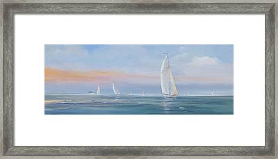 Offshore Sailing Framed Print by Jim Christley