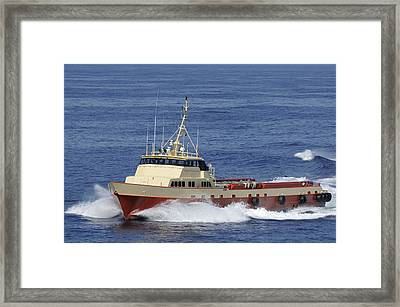 Offshore Supply Vessel Framed Print