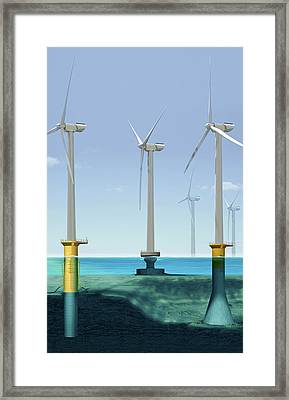 Offshore Wind Farm Framed Print by Claus Lunau/science Photo Library