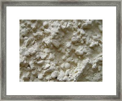 Offwhite Plaster Wall Framed Print by Kerstin Ivarsson
