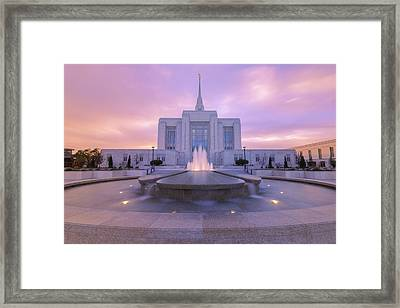 Ogden Temple I Framed Print by Chad Dutson