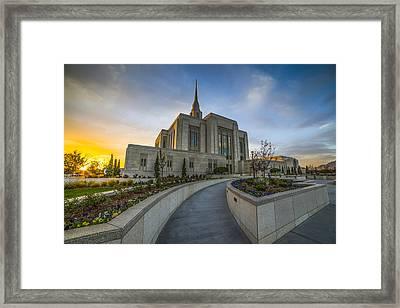 Ogden Temple Utah Framed Print