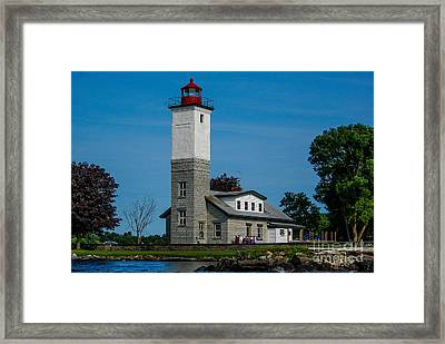 Ogdensburg Light House Framed Print
