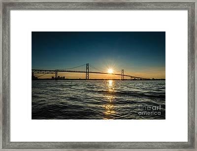 Ogdensburg Prescott Intl Bridge Framed Print