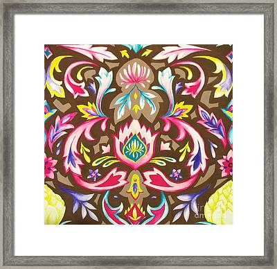 Ogee Textile Art Framed Print