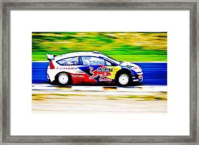 Ogier Citroen Wrc Framed Print by motography aka Phil Clark