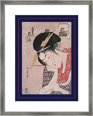 Ogiya Hanaôgi = Hanaôgi Of The Ôgiya Picture Framed Print by Artokoloro