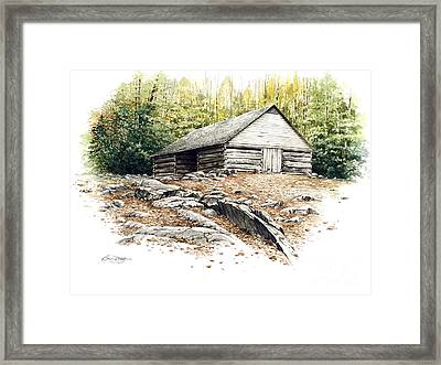 Framed Print featuring the painting Ogle Barn - 1880 by Bob  George