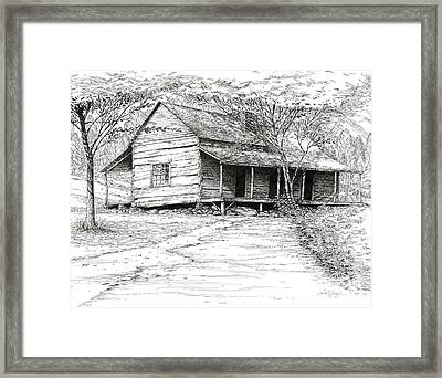 Ogle's Back Porch Framed Print