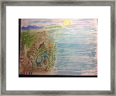 Ogo Harvest Ewa Beach Framed Print by Willard Hashimoto