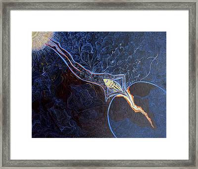 Ogo Has Left Sigi-tolo Without Permission And Entered Earth Framed Print by Lola Lonli
