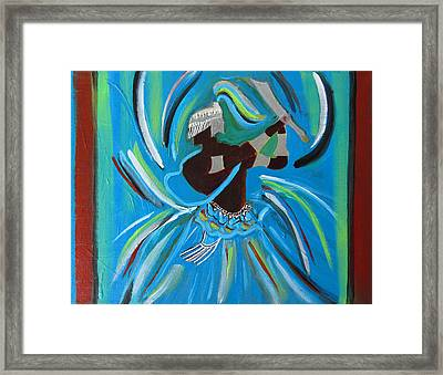 Ogum Framed Print by Fatima Neumann