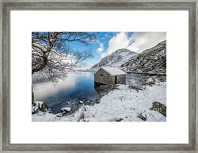 Ogwen Boat House Framed Print