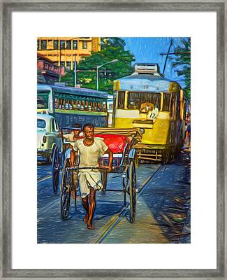 Oh Calcutta - Paint Framed Print by Steve Harrington