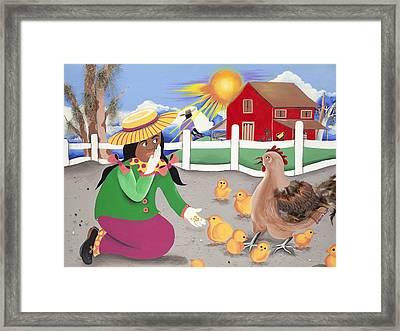 Oh Chick Framed Print
