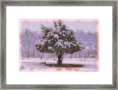 Oh Christmas Tree Framed Print by Lorri Crossno