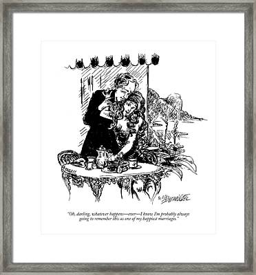 Oh, Darling, Whatever Happens - Ever - I Know I'm Framed Print by William Hamilto
