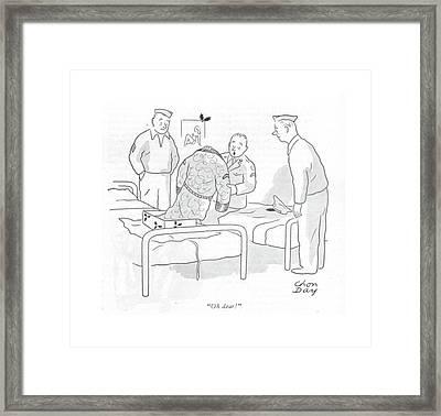 Oh Dear! Framed Print by Chon Day