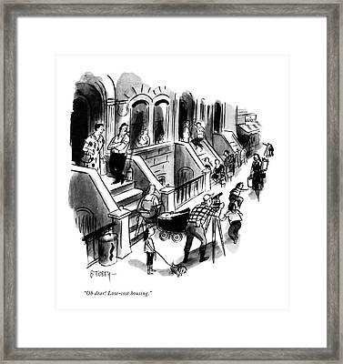 Oh Dear! Low-cost Housing Framed Print
