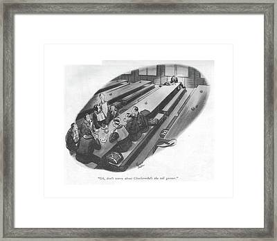Oh, Don't Worry About Charlie - He's The Tail Framed Print by Richard Decker