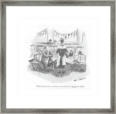 Oh, I Always Send Condolences - Providing I've Framed Print by Helen E. Hokinson