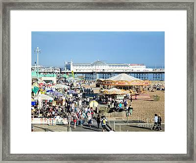 Oh I Do Like To Be Beside The English Seaside Framed Print
