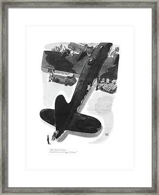 Oh, I Don't Know - I Just Feel Sort Framed Print by Robert J. Day