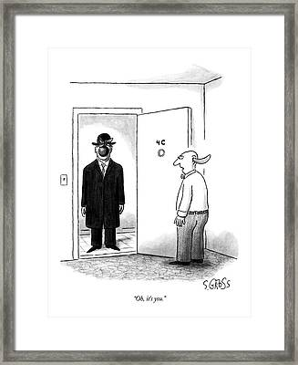 Oh, It's You Framed Print by Sam Gross