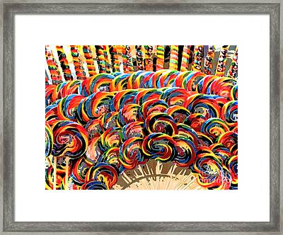 Oh Lolly Lollypop Framed Print