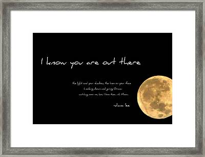 Oh Moon Framed Print by Diana Angstadt