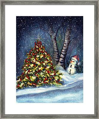 Oh My. A Christmas Tree Framed Print by Janine Riley