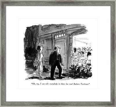 Oh, My, I Can Tell - Everybody In There Has Read Framed Print by James Stevenson