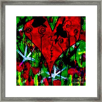 Oh My Pink Heart Framed Print by Donna Daugherty