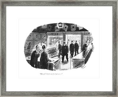 Oh, Oh! Look Out For Bad News Framed Print by Richard Decker