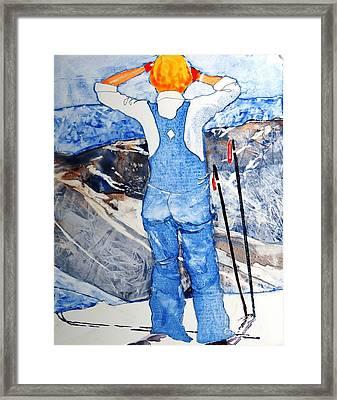 Oh Say Can You Ski Framed Print by Elizabeth Carr