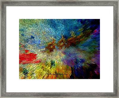 Framed Print featuring the painting Oh The Joys Of Santa's Toys by Lisa Kaiser