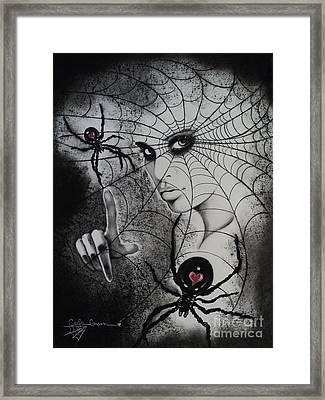 Oh What Tangled Webs We Weave Framed Print by Carla Carson