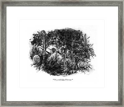 Oh, You'd Like Thoreau Framed Print by Perry Barlow