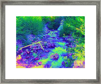 Framed Print featuring the photograph Ohanapecosh River by Ann Johndro-Collins
