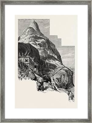 Ohara Tower And The Governors Cottage, Gibraltar And Ronda Framed Print