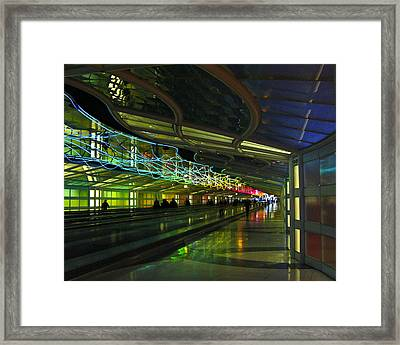 Framed Print featuring the photograph O'hare Color by Rhonda McDougall