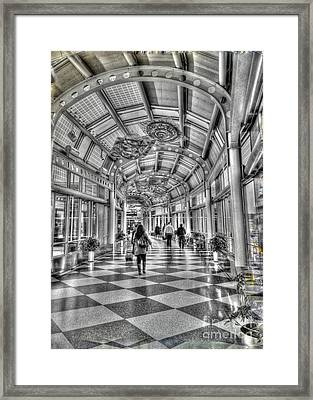 Ohare Terminal Two Framed Print by David Bearden