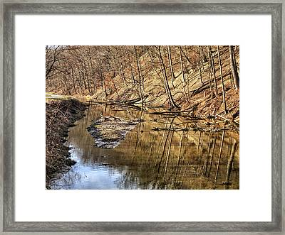 Ohio And Erie Canal Framed Print by Patricia Januszkiewicz