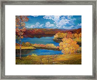 Ohio Autumn Framed Print