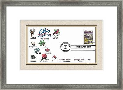 Ohio  Bicentennial Cover #1 Framed Print by Charles Robinson