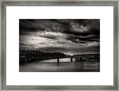 Ohio River Framed Print by Arne Hansen