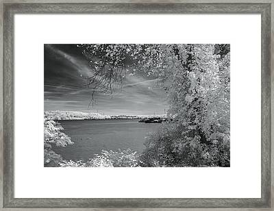 Ohio River Framed Print by Mary Almond
