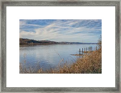 Ohio River Valley Framed Print by Diana Boyd