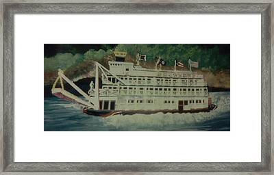 Framed Print featuring the painting Ohio Riverboat by Christy Saunders Church
