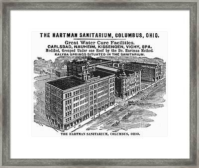 Ohio: Sanitarium, 1901 Framed Print by Granger